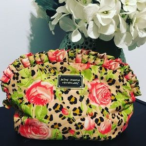 Betsey Johnson Floral Cosmetic Bag